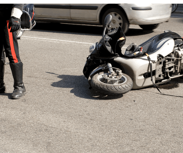 Call the authorities right away if you're involved in a motorcycle accident.