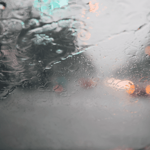 Driving in inclement weather can lead to road accidents.