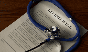 living will from a sick person